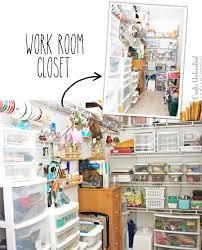 Closet Craft Room - craft room tour kelly u0027s shabby chic creative space