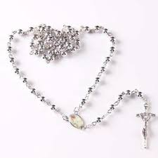 catholic rosary necklace catholic rosary silver plated rosary plastic cross prayer rosary