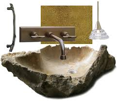 Stone Vanity Get This Look Earthy Powder Room Interior Design Inspiration