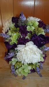 Silk Bridal Bouquets Waterfall Triangle Style Cascading Bouquets Silk Wedding