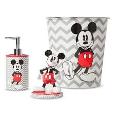 Disney Bathroom Accessories by Disney Mickey Mouse Chevron Bath Coordinate Collection Gray White