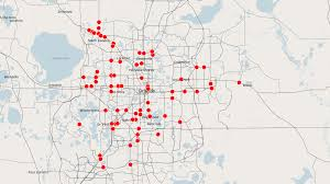 Central Florida Map by Map Orange County Red Light Cameras Orlando Sentinel