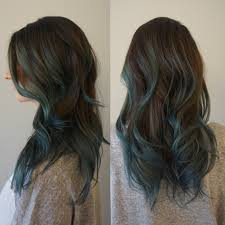 Hair Color To Cover Gray Dusty Blue Sombre Holly At Blueprint Modern Hair In Portland Or