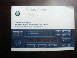 bmw c43 alpine business radio with manual and code sold