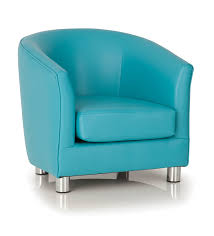 Light Blue Leather Chair Kids Childrens Faux Leather Tub Chair Armchair Sofa Seat Stool