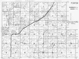 Indiana Counties Map Porter County Indiana Genweb Township Plat Maps 1969