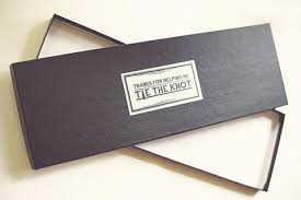 tie box gift personalized tie gift box for groomsmen thanks for helping me