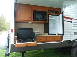 rv kitchen appliances magnificent rv trailers with outside kitchens and small kitchen