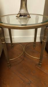 Glass Side Table by Round Glass Side Tables Set O 2 U2013 Design Consignment