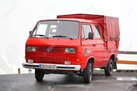 volkswagen minivan 2014 tyrol austria july 29 2014 german cargo van volkswagen