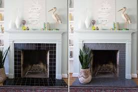l and stick tile fireplace