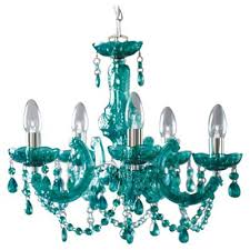 Marie Chandelier Buy Tesco Lighting Marie Therese Teal From Our Chandeliers Range