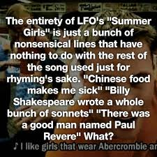 Shakespeare Lyrics Meme - 19 worst song lyrics of all time