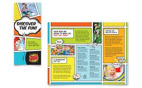 kids club brochure template design classroom pinterest
