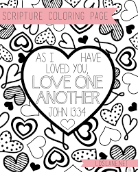 love one another as i have loved you coloring pages archives