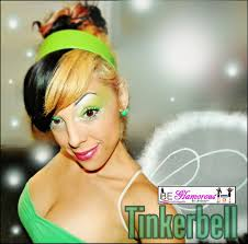 tinkerbell hairstyle be glamorous by lindsay green fairy makeup halloween tutorial