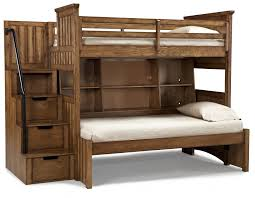 twin over full bunk beds with stairs canwood ridgeline twin over