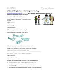 understanding evolution homology and analogy