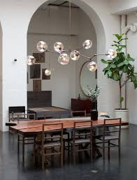 pretty dining rooms lighting floating bubble chandelier with decorative plant on pot