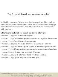 Driver Resume Samples by Top8transitbusdriverresumesamples 150530084725 Lva1 App6892 Thumbnail 4 Jpg Cb U003d1432975688