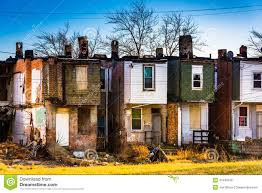 abandoned row houses in baltimore maryland stock photo image