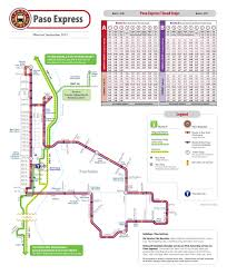 San Francisco Transportation Map by Paso Express San Luis Obispo Regional Transit Authority