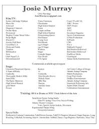promotional model resume sample acting resume special skills examples virtren com examples of resumes acting resume example good objective in