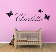 lighten up the nursery with baby nursery wall decals amazing image of baby room wall decals butterflies