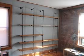 Building Wood Bookshelf by Lovely Diy Pipe And Wood Shelves 5 Diy Wood Shelving Units