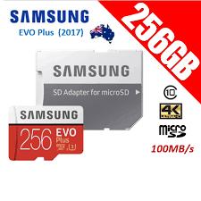 Memory Card Samsung 256gb samsung evo plus 256gb micro sd sdxc memory card uhs i u3 100mb s