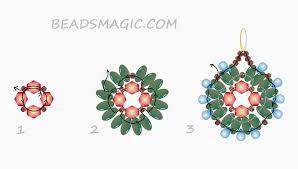 earrings patterns beads magic part 3