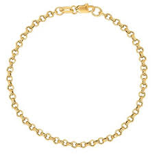 ankle bracelet gold images 10k solid yellow gold anklet rolo link chain ankle jpg