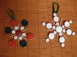 button snowflake ornaments lollipops