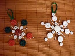 button snowflake ornaments licking lollipops