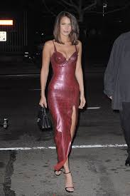 leather dress hadid in nyc in leather dress the daily caller
