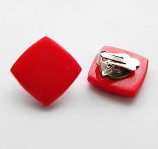 1960 s earrings plastic vintage clip earrings square 1960s