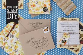 Stamps For Wedding Invitations Diy Tutorial Rubber Stamp Butterfly Handkerchief Wedding Invitations