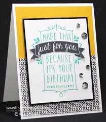 design your own birthday card using balloon bash stampin u0027 up