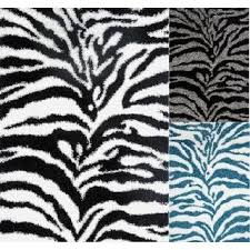 Black And White Zebra Area Rug Shag Animal Design Zebra Black White Area Rug 5 U0027 X 7 U0027 Free