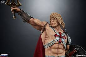he man and the masters of the universe masters of the universe heman statue by sideshow collectible