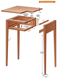 Wood Plans For Bedside Table by Shaker Table Popular Woodworking Magazine