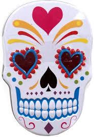 amazon com sugar skull tin white grocery