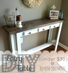 diy entryway table plans rustic farmhouse entry table awesome entry way decorating images