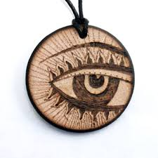 wood pendant necklace images Third eye necklace wooden necklace wood pendant round wood jpg
