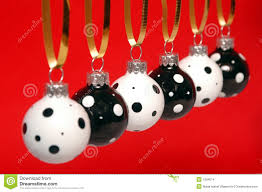 black and white christmas ornament stock images image 1294074