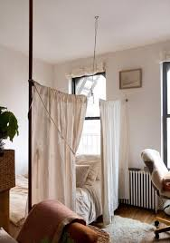 Curtain Room Divider Ideas with 10 Ideas For Dividing Small Spaces Apartment Therapy