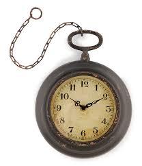 park hill antiqued pocket watch wall clock dillards