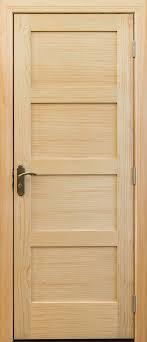4 Panel Interior Door 4 Panel Unfinished Clear Pine Interior Door