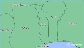 togo location on world map where is lome togo lome maritime map worldatlas