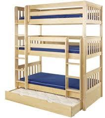 Wooden Bunk Beds Wooden Triple Bunk Beds Solid Wood Triple Bunk Beds